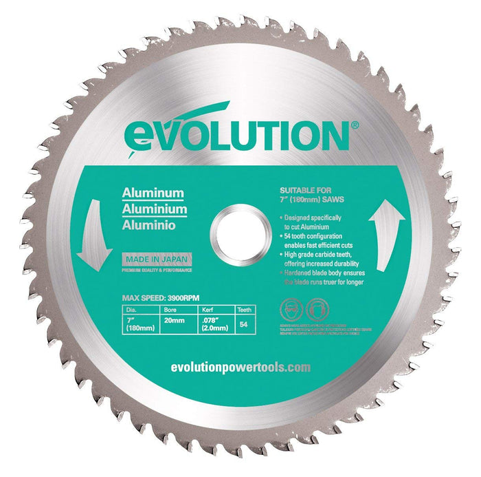 "Evolution Power Tools 7"" Aluminum Cutting Blade (180BLADEAL)"