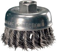 "Advance Brush 82220 2-3/4"" Carbon Steel Wire Knot Cup Brush (1 brush)-ShopWeldingSupplies.com"