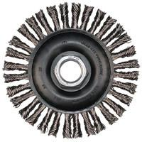 "Advance Brush 4"" Stainless Steel Wire Knot Wheel Brush - 82307-ShopWeldingSupplies.com"