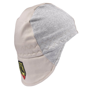 Revco FR Cotton Welding Cap with Hidden Bill Extension, Gray/Stone Khaki-ShopWeldingSupplies.com