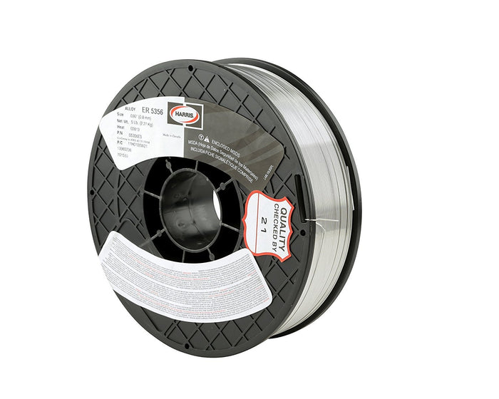 Harris 5356 Aluminum MIG Welding Wire - 16LB Spool (.035, 3/64 and 1/16 Available)