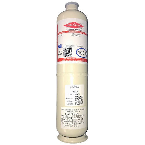 Air Zero Calibration Gas - 20.9% O2 103L - FREE SHIPPING-ShopWeldingSupplies.com