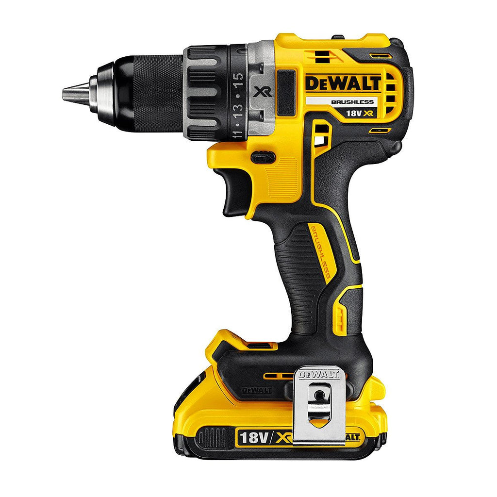 DeWalt DCD791D2 20V MAX* XR Li-Ion Brushless Compact Drill / Driver Kit-ShopWeldingSupplies.com