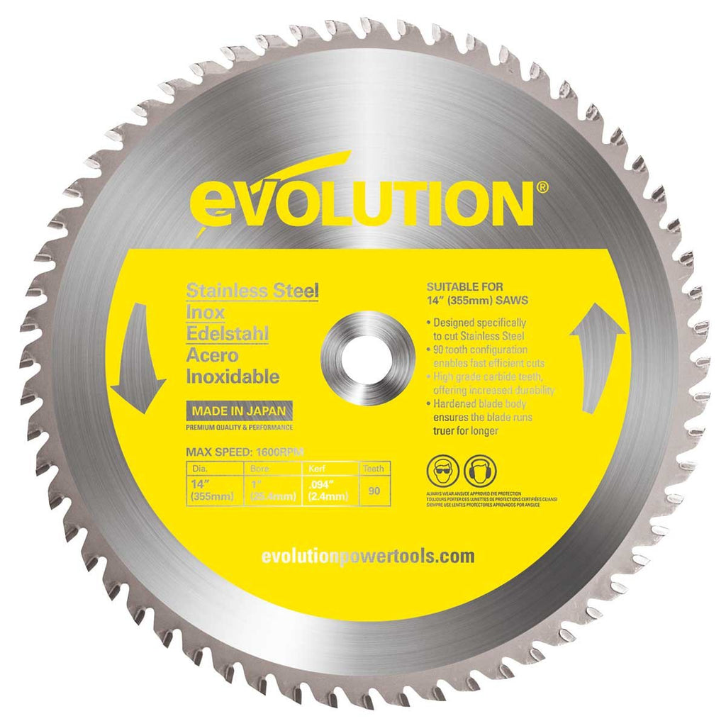 "Evolution 14BLADESSN 14"" Stainless Steel Metal Cutting Saw Blade-ShopWeldingSupplies.com"