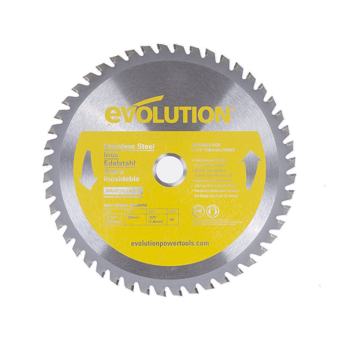 "Evolution 185BLADESS 7-1/4"" Stainless Steel Metal Cutting Saw Blade"