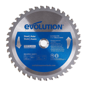 "Evolution 185BLADEST 7-1/4"" Steel Metal Cutting Saw Blade-ShopWeldingSupplies.com"