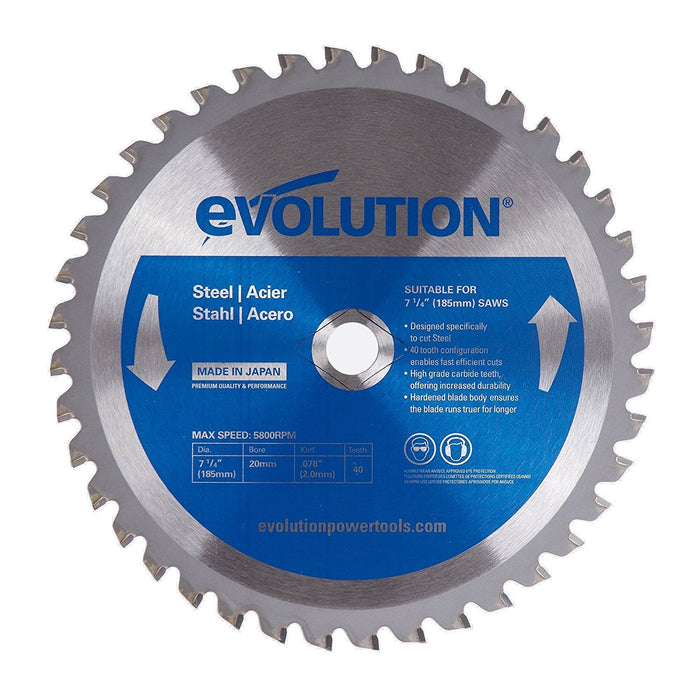 "Evolution 185BLADEST 7-1/4"" Steel Metal Cutting Saw Blade"