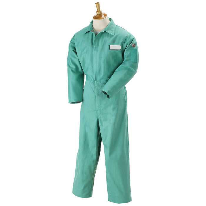 Revco Green Flame Resistant Cotton Coverall - F9-32CA/PT