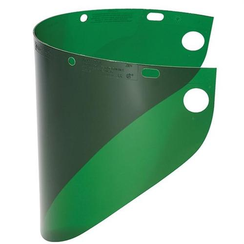 "Fibre-Metal 4178 .060"" 8x16-1/2"" Dark Green Faceshield Window-ShopWeldingSupplies.com"