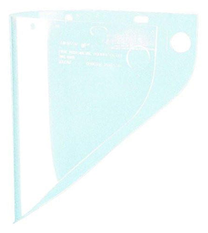 "Fibre-Metal 4199 .060"" 9-3/4x19"" Clear Extended View Faceshield Window-ShopWeldingSupplies.com"