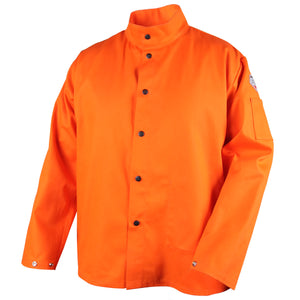 Revco TruGuard™ 200 Orange FR Cotton Welding Jacket - FO9-30C-ShopWeldingSupplies.com