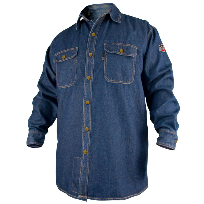 Revco Flame-Resistant Denim Work Shirt - FS8-DNM
