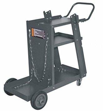PowerWeld CCMIG Industrial MIG Welder Cart (Black)-ShopWeldingSupplies.com