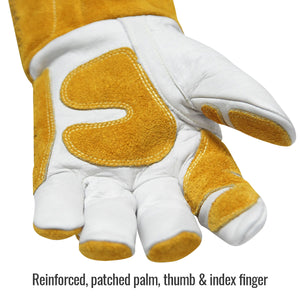 Revco Cowhide MIG Glove with Reinforced Palm & Thumb - GM1611-WT-ShopWeldingSupplies.com