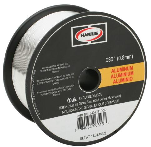 Harris 5356 Aluminum MIG Welding Wire - 1LB Spool (.030, .035, 3/64 Available)