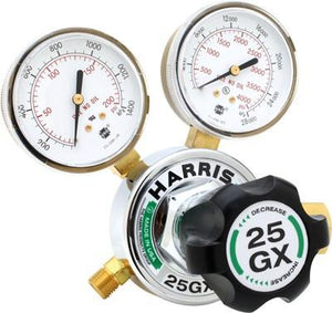 Harris 25GX-145-540 Medium/Heavy Duty Oxygen Gas Regulator-ShopWeldingSupplies.com