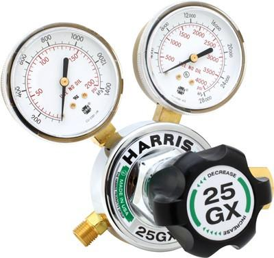 Harris 25GX-145-580 Argon, Nitrogen or Helium Gas Regulator