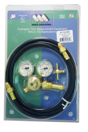 Weldmark AF150-580 Flow Gauge Regulator with 10FT Hose-ShopWeldingSupplies.com