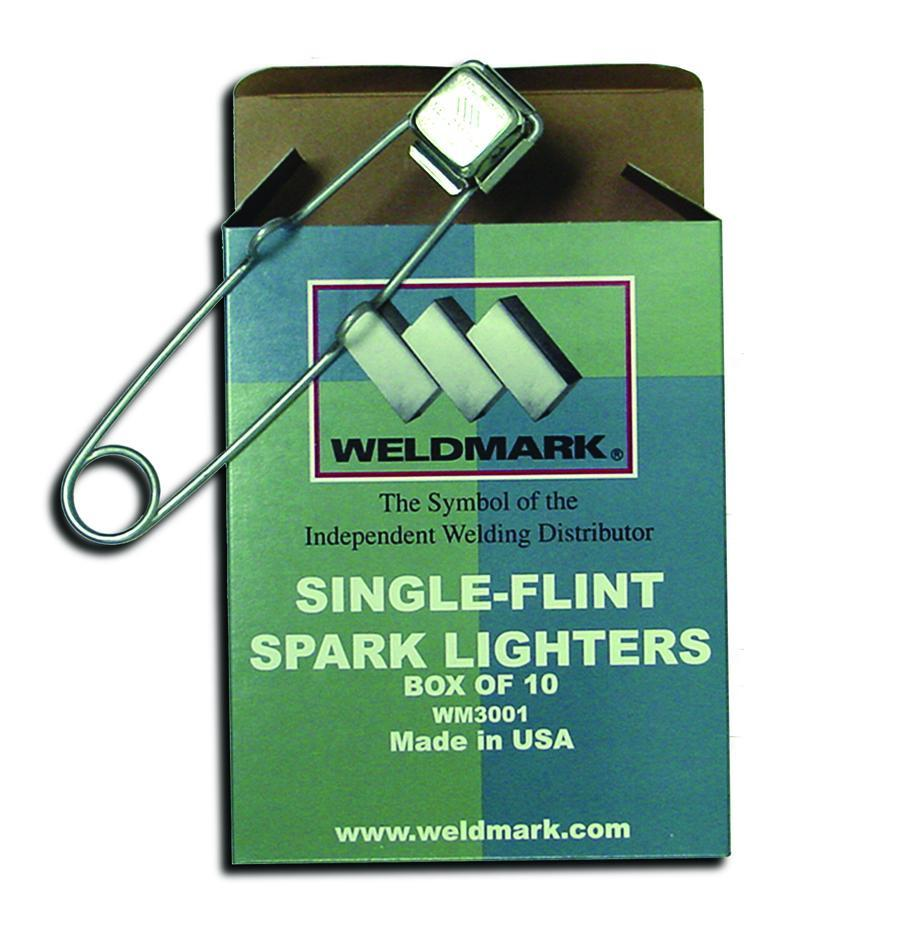Weldmark WM3001 Single-Flint Spark Lighters (1 box)-ShopWeldingSupplies.com