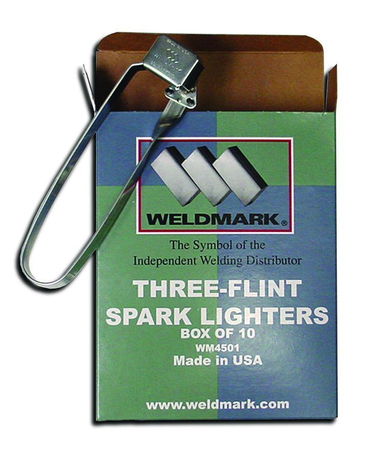 Weldmark WM4501 Three-Flint Spark Lighters (1 box)-ShopWeldingSupplies.com