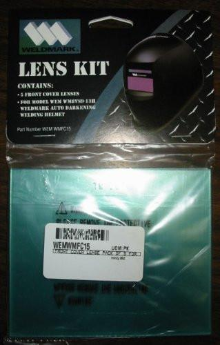Weldmark WMFC15 Welding Helmet Replacement Front Cover/Lens (5/pack)-ShopWeldingSupplies.com