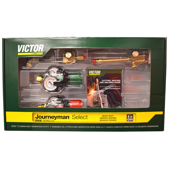 Victor Journeyman Select Acetylene Cutting Torch Kit - (0384-2081) - 540/510 Edge 2.0 Plus - Limited Time Special Price!