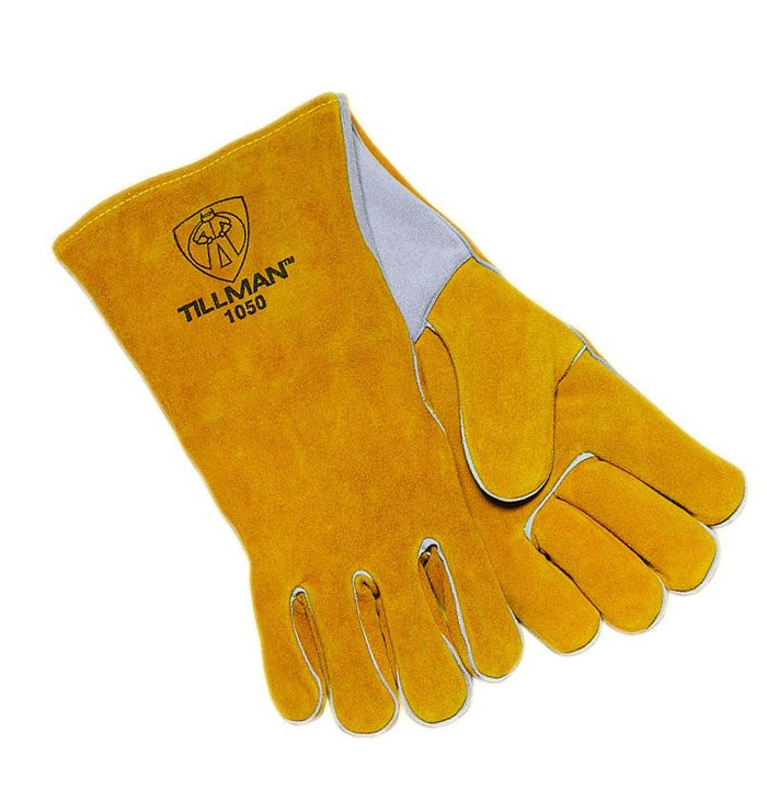 Tillman 1050 Bourbon Brown, Premium Side Split Cowhide Welding Glove