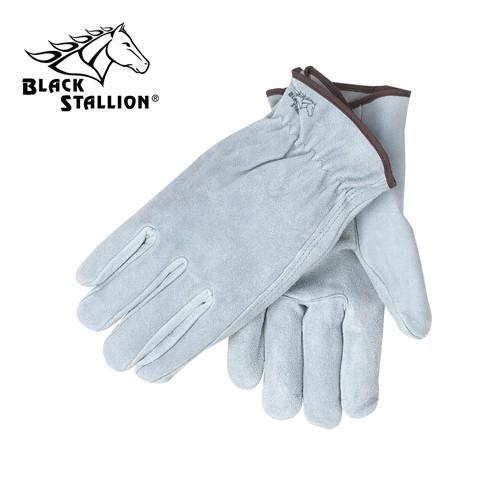 Revco (10 Series) Professional Driver and Light Duty Work Gloves: Gray Split Cowhide-ShopWeldingSupplies.com