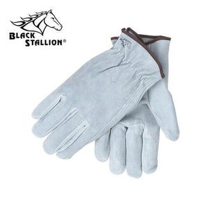 Revco (Style 10) Drivers Gloves: Gray Split Cowhide-ShopWeldingSupplies.com