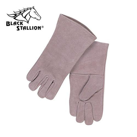 Revco 111S Economy Gray Split Cowhide Stick Welding Gloves-ShopWeldingSupplies.com