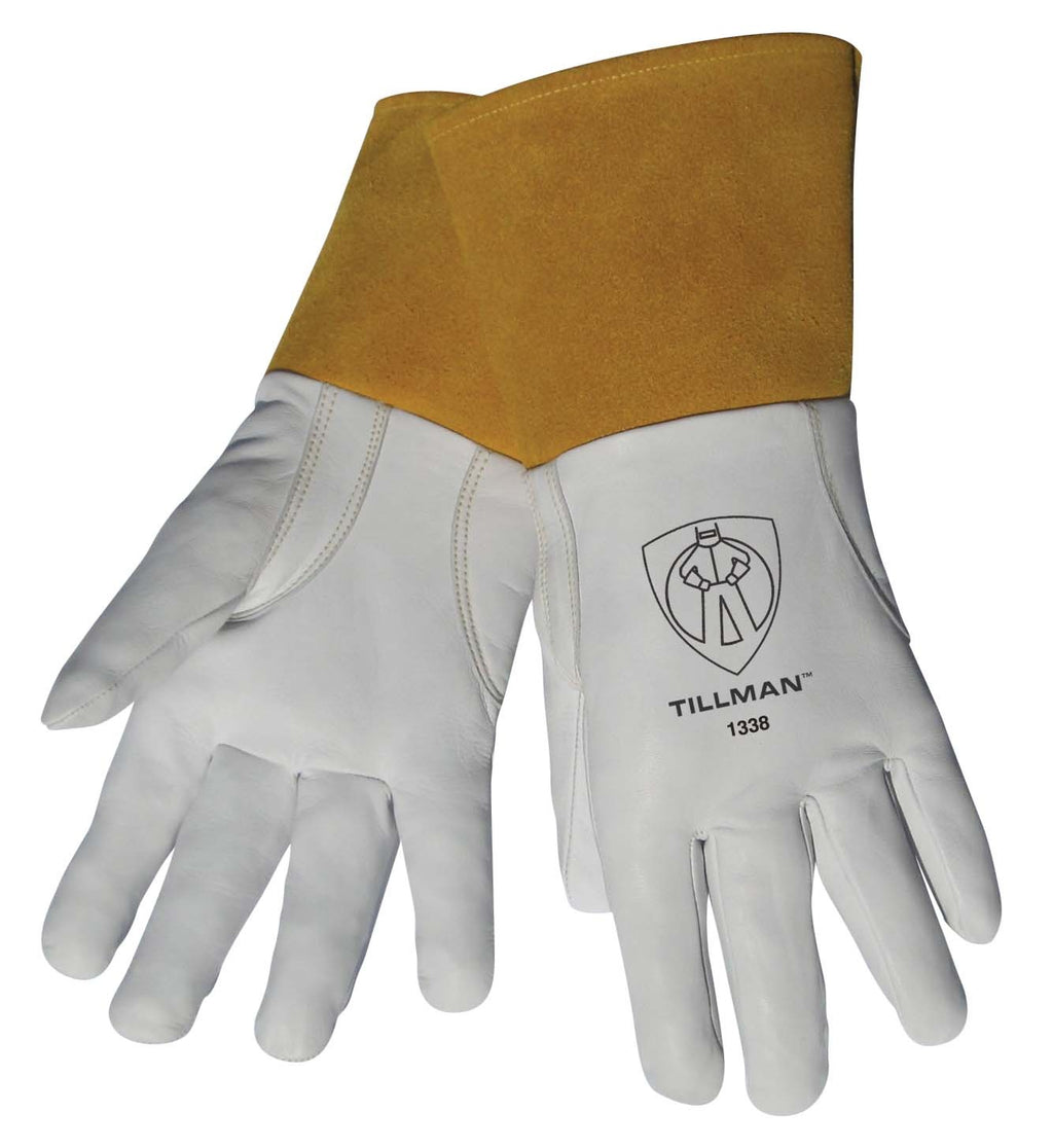 "Tillman 1338 4"" Cuff Top Grain Goatskin TIG Welding Gloves-ShopWeldingSupplies.com"