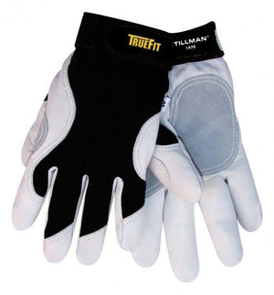 Tillman 1470 Truefit™ Gray/Black Goatskin Work Gloves (1 pair)-ShopWeldingSupplies.com