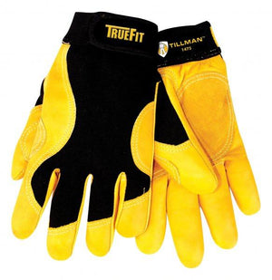 Tillman 1475 Truefit™ Palm/Black Cowhide Work Gloves-ShopWeldingSupplies.com