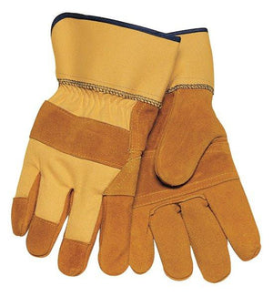 Tillman 1500YPP Work Gloves: Yellow Double Palm Cowhide - Large-ShopWeldingSupplies.com