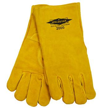 Revco 2000 Standard Welding Gloves: Gold Cowhide-ShopWeldingSupplies.com
