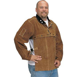 Revco 214CS Cape Sleeve/Bib Combo: Brown Cowhide-ShopWeldingSupplies.com