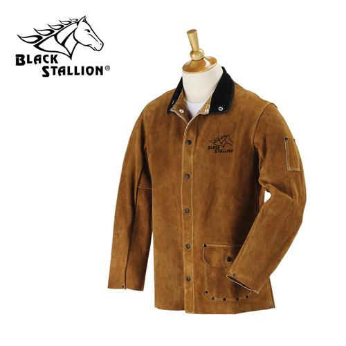 Revco Brown Split Cowhide Welding Jacket - 30WC-ShopWeldingSupplies.com