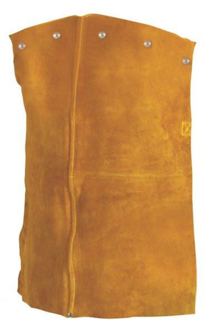 "Tillman 3120 Bourbon Brown Premium Side Split Cowhide 20"" Leather Welding Bib-ShopWeldingSupplies.com"