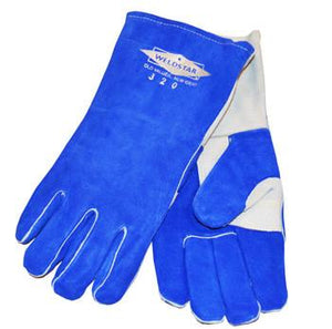 Revco 320 Black Stallion® Stick Welding Gloves: Blue Premium Cowhide-ShopWeldingSupplies.com