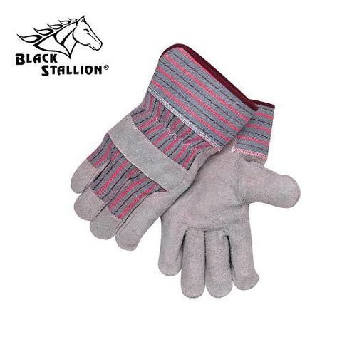 Revco 5B Standard Split Cowhide Leather Palm Work Gloves (Large)-ShopWeldingSupplies.com