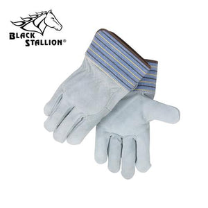 Revco 5FB Gray Quality Full Back Split Cowhide Work Gloves (Large)-ShopWeldingSupplies.com
