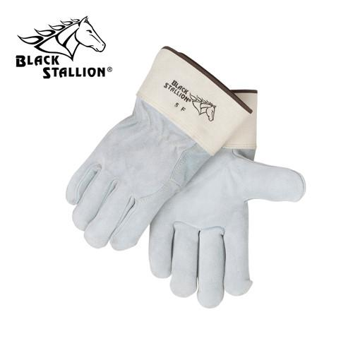 Revco 5F Gray/White Premium Split Cowhide Work Gloves-ShopWeldingSupplies.com
