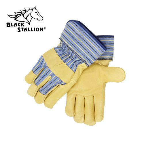 Revco 5P Grain Pigskin Leather Palm Work Gloves-ShopWeldingSupplies.com