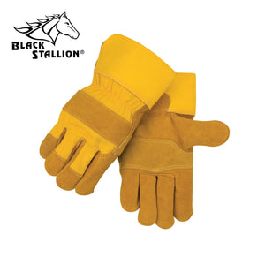 Revco 5Y Side Split Cowhide Leather Palm Work Gloves (Large)-ShopWeldingSupplies.com