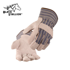Revco (Black Stallion) 6B Work Gloves - Heavy Cowhide Palm Short Cuff (Large)-ShopWeldingSupplies.com