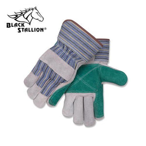 Revco 6DP Split Cowhide Leather Palm Work Gloves (Large)-ShopWeldingSupplies.com