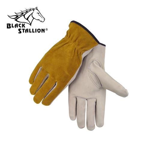 Revco 97 Drivers Work Gloves: Palm & Split Cowhide-ShopWeldingSupplies.com