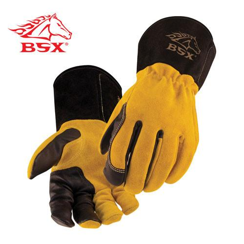Revco BSX BT88 TIG Welding Gloves: Tan Kidskin/Cowhide-ShopWeldingSupplies.com