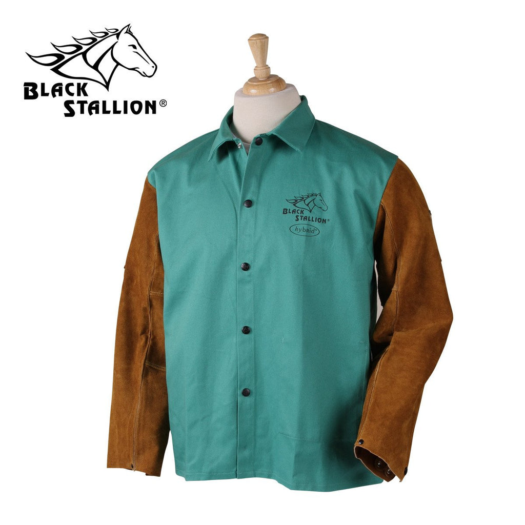 Revco Cotton/Split Cowhide Hybrid Welding Jacket - F9-30C/BS-ShopWeldingSupplies.com