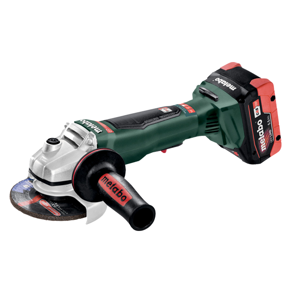 "Metabo WPB-18 LTX 115 4 1/2"" Cordless Grinder, Battery Powered - 613074620"